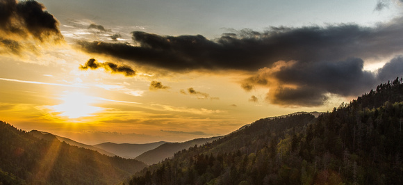 """SUNSET AT MORTON'S OVERLOOK"""